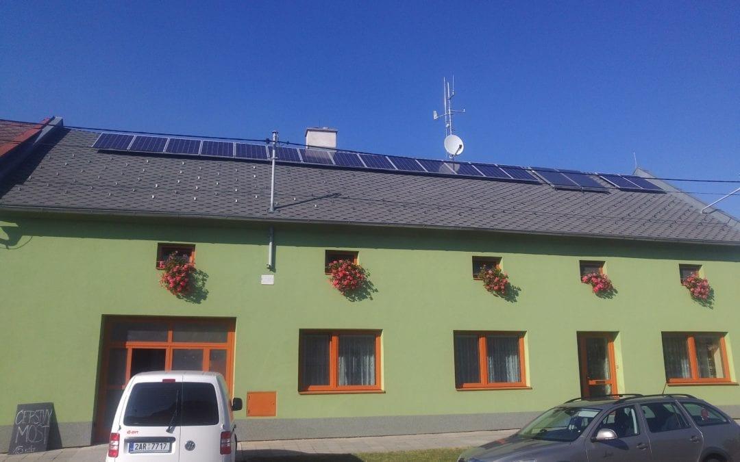 Fotovoltaická elektrárna, Roštění