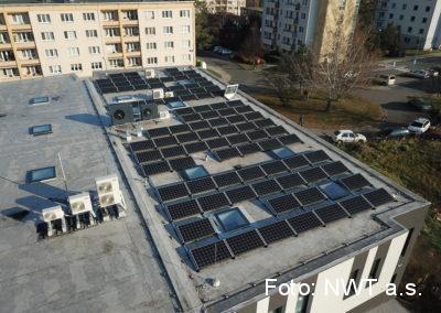 Fotovoltaická elektrárna s bateriemi, Zlín